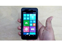Nokia Lumia 535, on Vodafone, black finish with new gel case cover