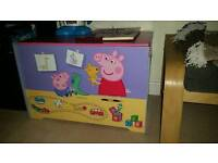Peppa pig wood toy box