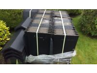 160No BLACK FLAT ROOF TILES & 6No RIDGE TILES CONDITION NEW £120ono