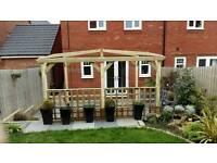 Garden wooden pergola 4.2m x 4.2m
