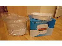 Cookworks 2 Bowl Steamer - White, Brand New