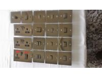 Black Nickel Sockets and Switches for sale