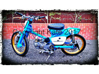## 1978 HONDA C90 WITH EXTENSIVE REMODELLING WITH CUSTON & PERFORMANCE PARTS ##