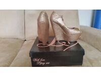 Lipsy Gold Shoes