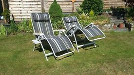 Kampa Top Quality Reclining Garden Caravan Camping Patio Chairs large size and unused