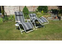 Kampa Top Quality Reclining Garden Patio Chairs large size and unused