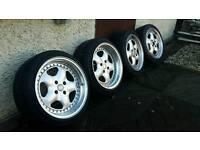 Artec L Alloy Wheels & Tyres - 4x100 16x7.5 & 16x9 Mk1, Mk2 Golf, Polo, Caddy etc