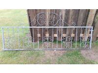 Galvanised Metal Gate - 2.4m x 1m