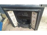Stylish Victoriana cast iron Fireplace, Beautifully presented depicting Fruits and Flora vividly