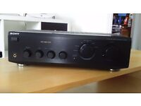 Sony amplifier for vinyl, CD, tape & tuner.