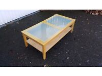 Coffee Table Frosted Glass Inserts 120cm FREE DELIVERY (04659)
