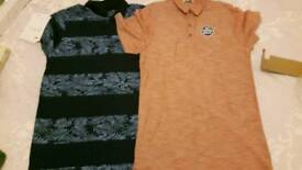 2 x mens small tops. B9th new with tags