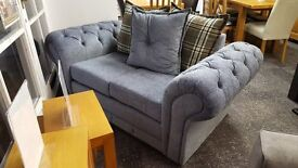 Chesterfield Style Fabric Sofa