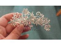 Bridal a hair slide with butterfly detail