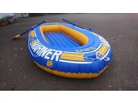 Inflatable boat and oars 2/3 person - Good condition