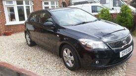 Kia Pro Ceed 2 EcoDynamics CRDi 1.6L Diesel 3 Door Black July 2013 54,850 miles 2 year warranty