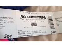 2x Saturday boardmasters tickets