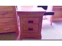 GREAT CONDITION! solid oak bedside table quality craftsmanship drawer bases also solid oak