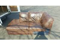 FREE FAUX LEATHER SOFA. £10 DELIVERED IN NORWICH