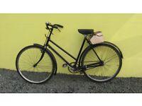 Old Vintage HERCULES Ladies Black Bicycle Rare Bike