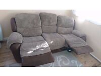 3 seat recliner sofa and armchair