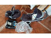Mamas & Papas, All in One Travel Sysytem. Car seat with base and push chair