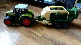Tractor and trailer toy