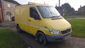 MERCEDES SPRINTER 313 SWB. 3.5t heavy duty van in excellent machanical condition