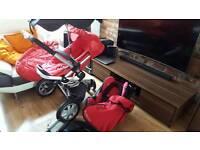 Quinny buzz pram - quinny pushchair, Maxi cosi Cabriofix car seat, isofix Base