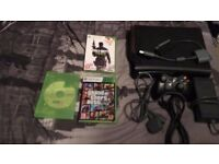 Xbox 360 120GB with all leads and controller and 3 games