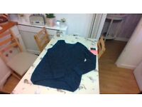 navy blue thick wooly jumper
