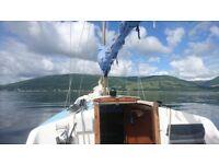 21' Yacht on Loch Long