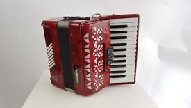 Stephanelli 48 Bass Piano Accordion - New Elite Model - Perloid Red