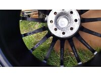 4×18 inch alloys wheels ET42,J7,5 . Good condition, with 4×215/35zr18 84w tyres.