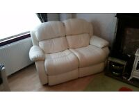 Cream sofas 2 seater and 3 seater
