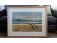 Leopard Oil painting, bought from oak furniture land, never been hung