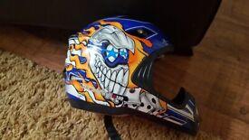 5 different Motocross helmets