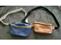 Bumbags mermaid blue and copper gold excellent condition