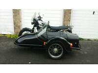 Triumph bonneville sidecar combination outfit