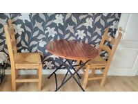Dining table for 2 with 2 chairs