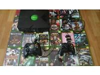 Original xbox 24 games 2 controllers all working