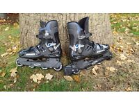 Adult rollerblades - Bauer black size 10 (UK)