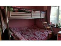 Triple bunk bed for sale with mattresses