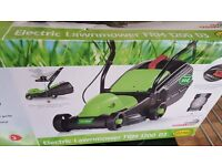 Brand New 1200W Height Adjustable Electric Lawnmower Strimmer