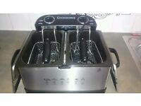 COOKWORKS TWIN PROFESSIONAL FRYER