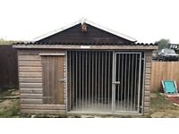 Dog shed and run