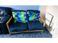2 seater sofa with large cushions