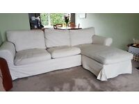IKEA EKTORP Two-seat sofa with chaise longue and removable covers (Free)