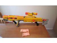 Nerf LongShot CS-6 Large Gun with Attachments