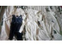 3-6 month short sleeve vests and sleep suits